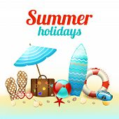 Summer holidays background poster