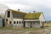 picture of dairy barn  - An abandoned dairy barn and milk house in rural Washington state - JPG