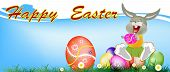 image of duck egg blue  - Happy Rabbit and Easter Eggs - JPG