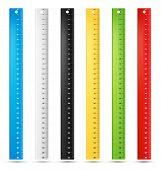 Rulers in centimeters