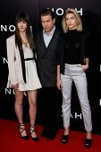 NEW YORK-MAR 26: (L-R) Alaia Baldwin, Stephen Baldwin and Hailey Baldwin attend the premiere of
