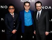 NEW YORK-MAR 26: (L-R) Cinematographer Matthew Libatique, production designer Mark Friedberg and gue