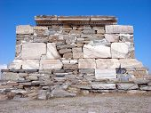 image of phallus  - Architecture and details of historic city Delos near Mykonos Greece - JPG