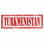 stock photo of turkmenistan  - Grunge rubber stamp with text Turkmenistan - JPG