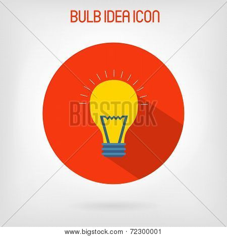 Bulb flat styled icon