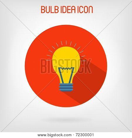 Bulb flat styled icon