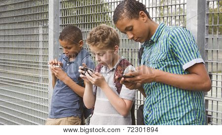 Kids using cell phone