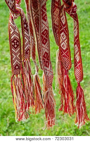 Belarusian Sashes With A Classic Geometric Pattern