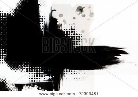Black Ink Design Background