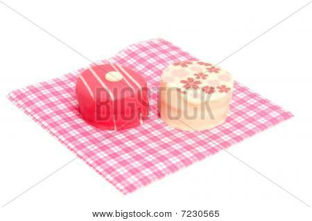 Petit Four On Napkin