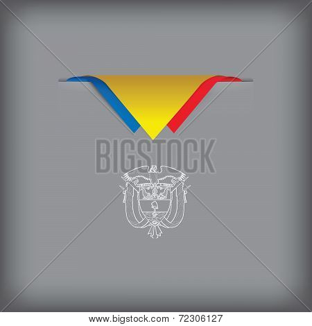 Abstract Image Of Flag Colombia