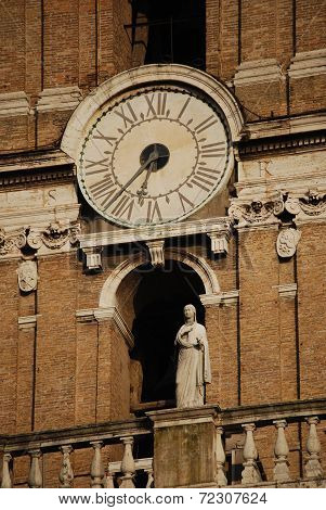 Bell tower at the Capitoline Hill in Rome, Italy