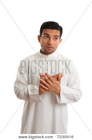 Worried Middle Eastern Business Man