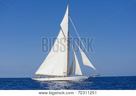 Ancient Sailing Boat During A Regatta At The Panerai Classic Yachts Challenge On Sept 10-14 2014 Imp