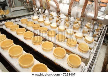 Preparation Of Ice-cream On Factory
