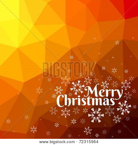 Merry Christmas Card With Triangle Background
