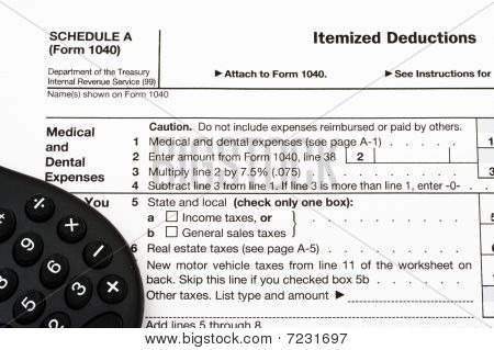 Federal Tax Forms For Items Deductions