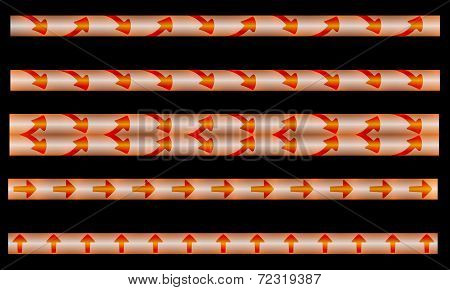 Strips With Arrows And Backlight
