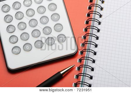 Writingbook And Pen And Calc_1