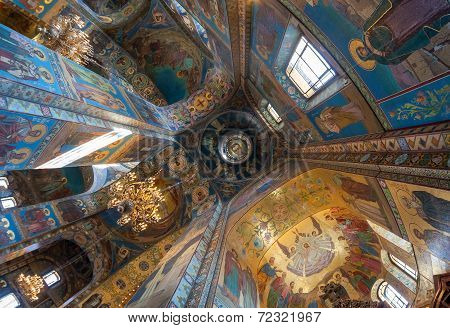 Saint Petersburg, Russia - August 9, 2014: Interior Of The Church Of The Savior On Spilled Blood