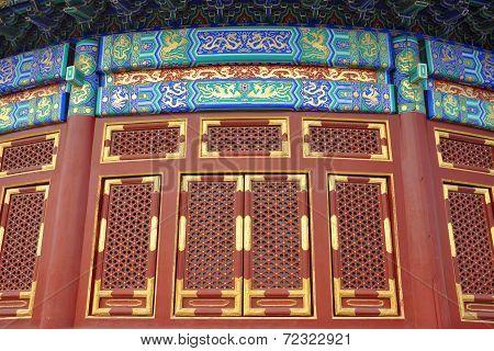Windows in Temple of Heaven, Beijing, China