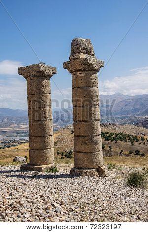 Funerary Columns At Karakus