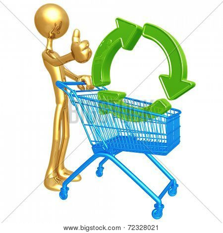 Shopping Cart Green Recycling