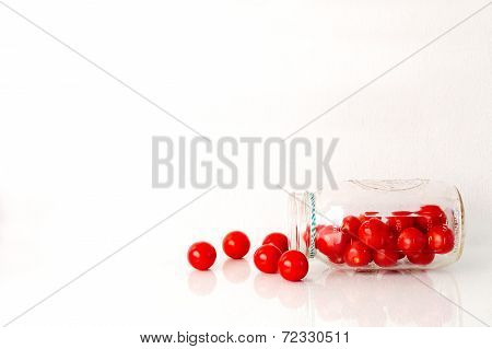 Cherry Tomatoes and Jar