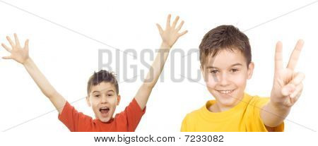 Boys With Arms In The Air