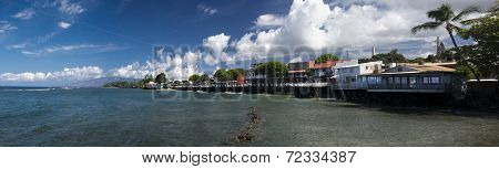 Panoramic view of Lahaina's Front street, Maui, Hawaii