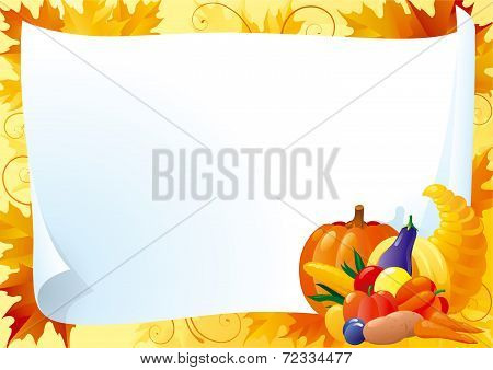horizontal card for thanksgiving