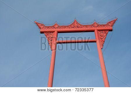 Brahmin Swing,Giant swing ,Wat Suthat Temple, Bangkok,