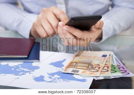 Hand Using Cellphone