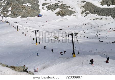 VANCOUVER, CANADA JULY 10: View of Whistler Ski slope on July 10, 2014 From Whistler.