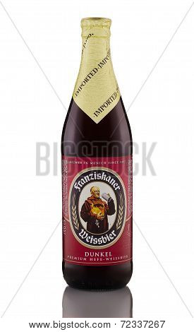 One Bottle Of Wheat Beer Franziskaner Weissbier Dunkel