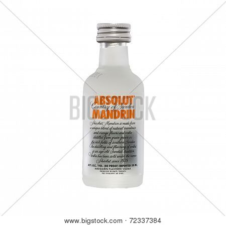 Miniature Bottle Of Absolut Mandrin Vodka