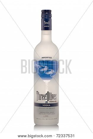 Bottle Of Three Olives Vodka Alc.40%, 750Ml