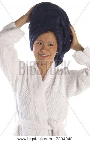 Happy Towel On Head
