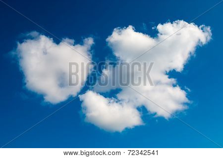 White clouds on blue sky day