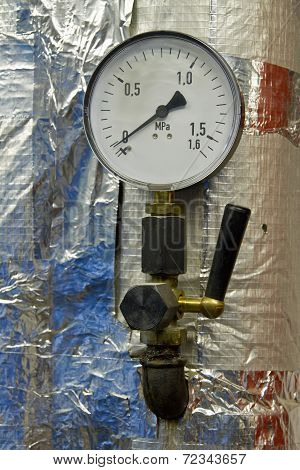 Manometer Pressure In The Boiler Room
