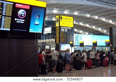 People queuing at the airport