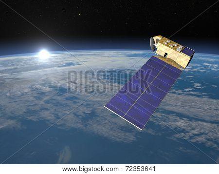 Aura satellite - 3D render