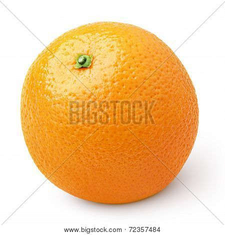 Ripe Orange Citrus Fruit Isolated On White