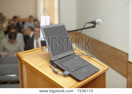 Business Conference Laptop Presentation