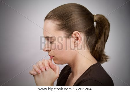 Young Woman Praying