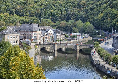 Bridge Over The Rive Ourthe In La Roche-en-ardenne