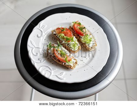 Rusks On A Round Plate
