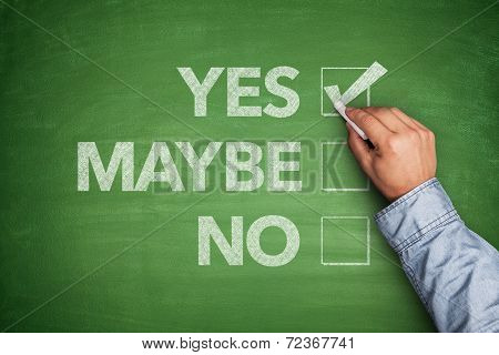 Yes, No or -maybe on Blackboard
