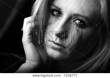 sad young woman