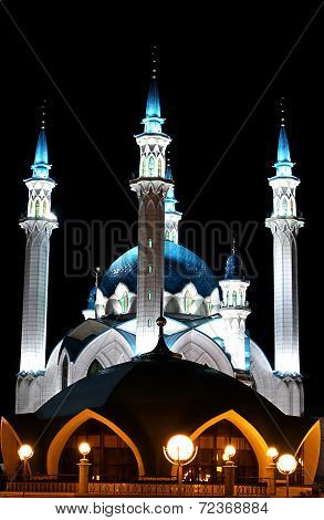 Kul-sharif Mosque In Kazan Kremlin At Night